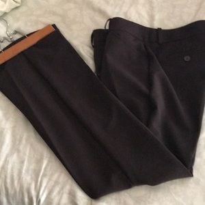 Brown straight leg slacks